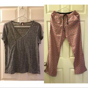 Pajama SET 💖 Victoria Secret T-Shirt + Long Pants